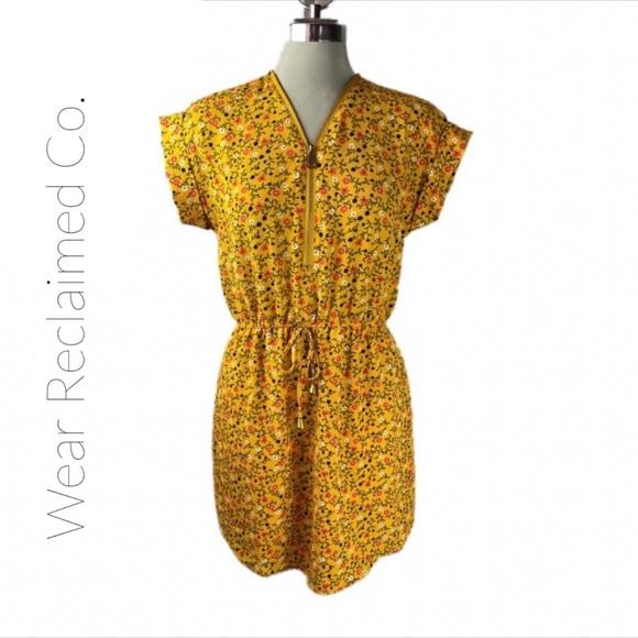 STELLA TWEED Lightweight Zip Neckline Dress